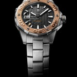 montre TAG Heuer Aquaracer 500m acier or rose