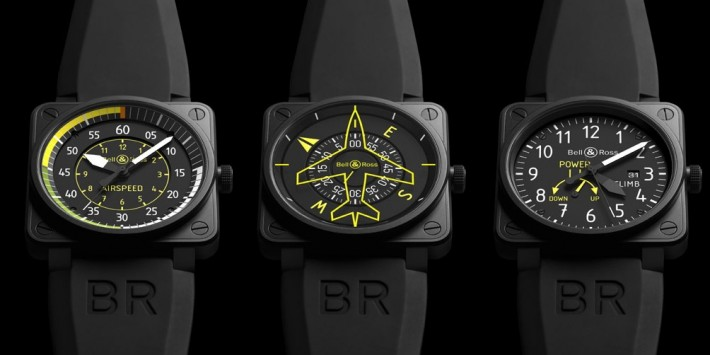 Bell and Ross BR01 Instruments Flight instruments - déclinaisons AirSpeed, Heading Indicator et Climb