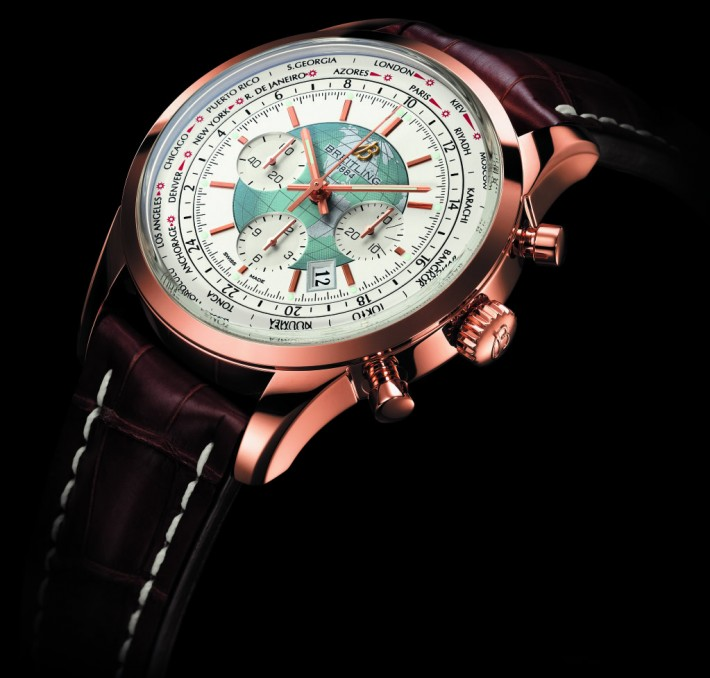 Breitling Transocean Unitime Chronographe : Boîtier Or Rouge
