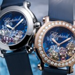 Chopard Happy Diamonds - Happy Fish. 2 versions présentées : acier et Or Rose 18k avec lunette en diamans