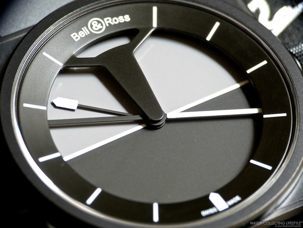 Bell and Ross BR01 Horizon - détail du cadran