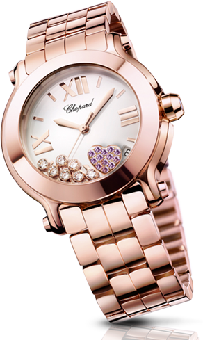 Chopard Happy Diamonds - Happy Sport en version Or Rouge 18k
