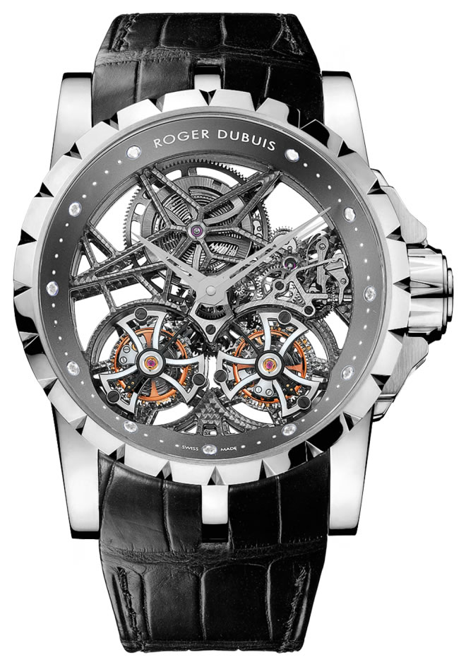 Roger Dubuis Excalibur Skeleton Double Flying Tourbillon - Platinum
